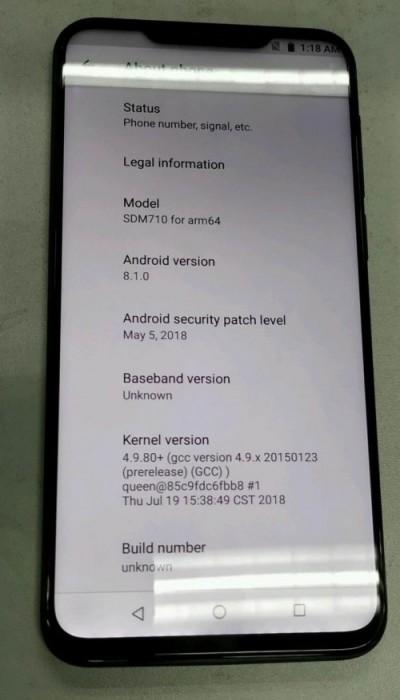 Image of Mezi X8, leaked in July