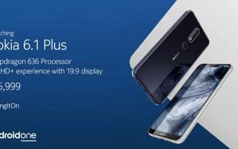 Nokia 6.1 Plus sales in India start tomorrow at 12 PM