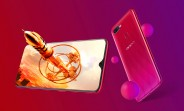 "Oppo F9 launches: a 6.3"" screen with a tiny notch, 90.8% StB ratio"