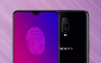 Oppo R17 leak shows an under display fingerprint reader