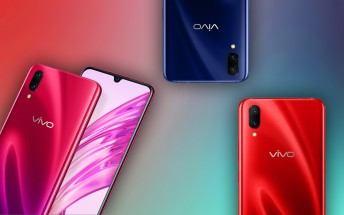 vivo X23 appears on official site in three different colors