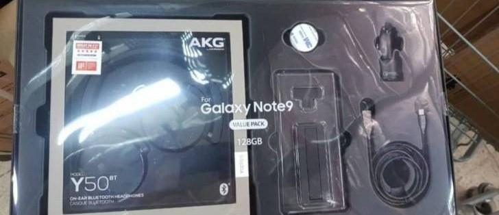 huge discount bdcf5 7ebab Samsung Galaxy Note9 Value Pack with AKG Y50 BT and HDMI cable leaks ...