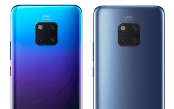 Alleged renders of the Huawei Mate 20 Pro show a triple cam and in-display fingerprint