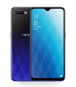 Oppo A7x in Twilight Blue