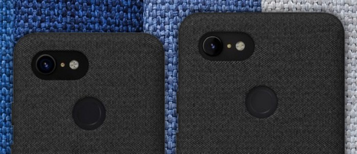 brand new b5e3e 70625 Google Pixel 3 and Pixel 3 XL renders leak, cloth cases in tow ...