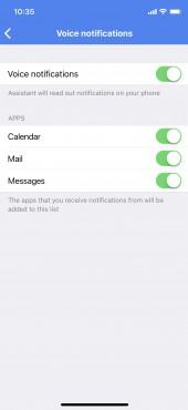 Voice notifications on iOS