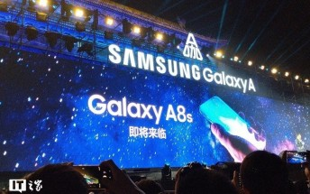 Samsung teases the Galaxy A8s with a camera hole in the screen