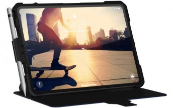 Upcoming iPad Pro shown inside a case, Face ID in tow