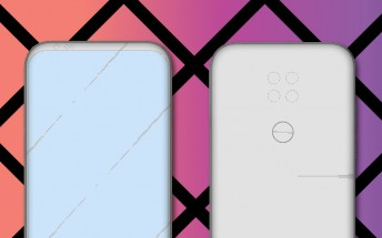 LG patents new phone design with three or four cameras, no notch