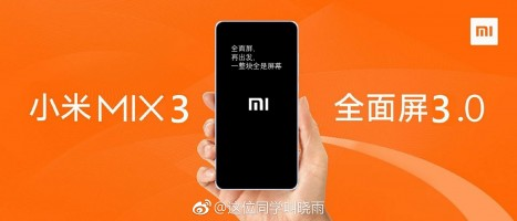 Xiaomi Mi Mix 3 will allegedly be unveiled on October 15