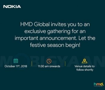 HMD invite for an October 11 event sent out to Indian publications