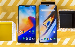 OnePlus 6T next to the OnePlus 6