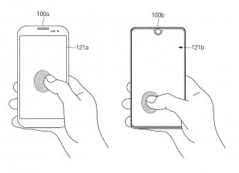 Patent drawings of Samsung's all-display fingerprint reader