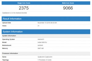 nubia Red Magic Mars (NX619J) benchmarks: Geekbench