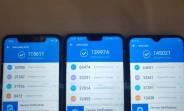 Realme U1 box images and AnTuTu benchmark score pop up