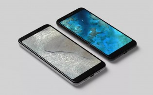 Alleged renders of the Pixel 3 'Lite' and Pixel 3 XL 'Lite'