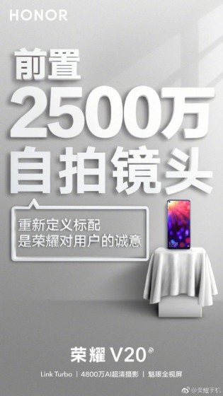Leaked Honor View 20 posters