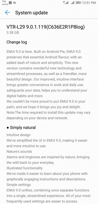 EMUI 9 starts hitting global Huawei P10 units - GSMArena com