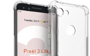 Leaked Google Pixel 3 Lite cases show similar yet slightly different phone design
