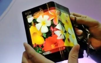 BOE demos foldable display with impressively small bend radius
