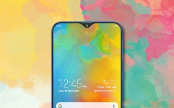 Samsung Galaxy A50 panels show a triple camera, no room for a fingerprint reader