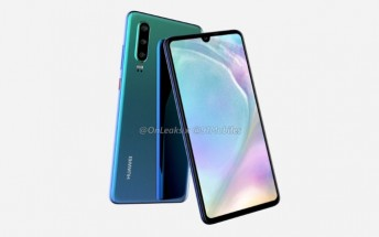 Huawei P30 CAD-based renders and 360-degree video show three rear cams, water drop notch