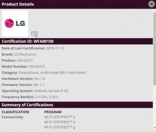 Bluetooth and Wi-Fi certifications