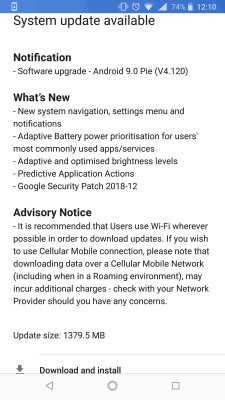 Nokia 8 Sirocco getting the Android 9 Pie update (1.4GB download)