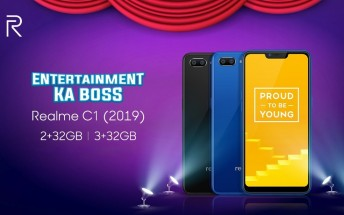 Realme C1 (2019) arrives with more RAM and storage