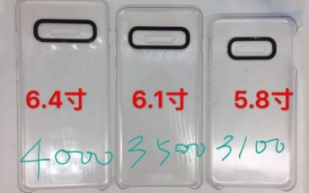 Samsung Galaxy S10 line battery capacity, size comparison and chipset info surface in yet another leak