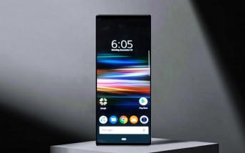 Image of Sony Xperia XZ4 homescreen surfaces
