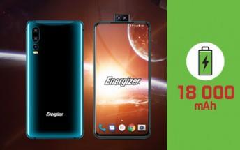 Energizer Power Max P18K Pop features an 18,000mAh battery, dual pop-up selfie cam