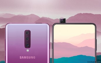 Renders show what the Galaxy A90 with a pop-up selfie camera might look like