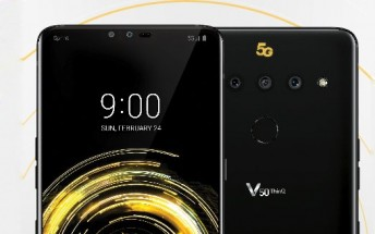 LG V50 ThinQ flaunts a 5G Sprint logo. Might be coming to MWC 2019