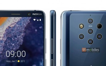 Press render of Nokia 9 PureView leaks