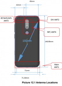 Nokia TA-1157: FCC schematic of the back