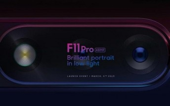 Oppo F11 Pro with 48 MP rear camera to go official on March 5