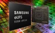 Samsung starts mass producing world's first 512GB eUFS 3.0 storage solution