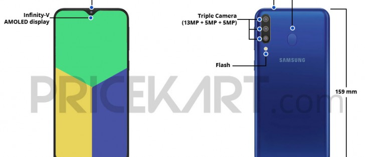 Samsung Galaxy M30 dimensions and layout leaks - GSMArena com news