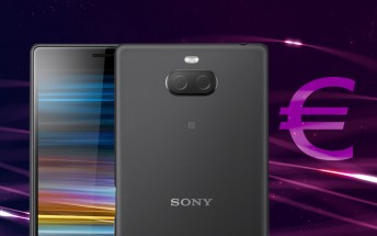 Sony Xperia 10 (aka XA3) will cost €350, the 10 Plus will go over €400