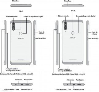 Pages from the Zenfones' manuals