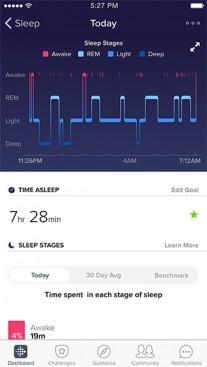 The Fitbit app