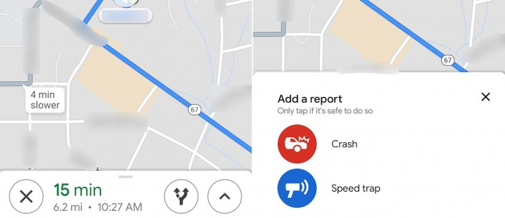 Google Maps' accident and speed trap reporting rolling out