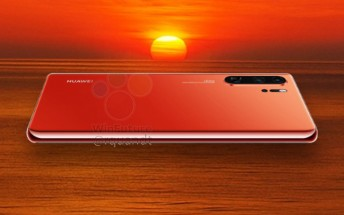 Huawei P30 Pro shows up in Sunrise Red, non-Pro model will have a 3.5mm jack