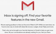 Google Inbox gets shutdown date