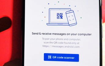 Messages for Web appears on messages.google.com for the first time
