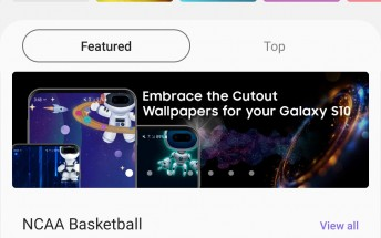 Cutout wallpapers now available in Samsung's Galaxy theme store