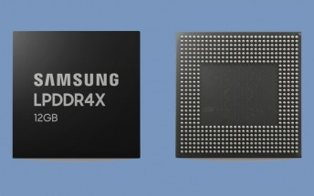 Samsung starts producing 12GB LPDDR4X DRAM modules for phones