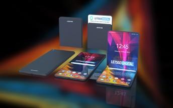 Sharp's foldable smartphone showcased in 3D renders