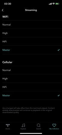 Tidal adds support for its highest quality MQA preset on the iPhone